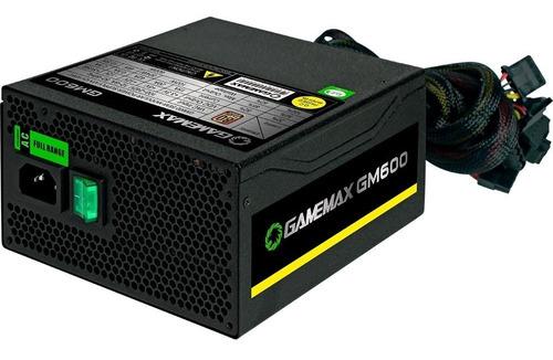 fonte gamemax gm600 preta 80plus bronze 600w