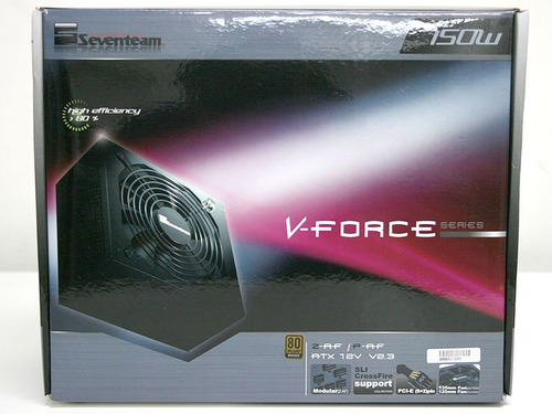 fonte gamer seventeam 750w v-force