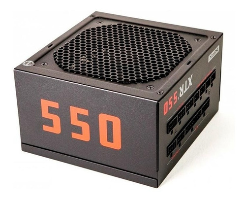 fonte gamer xfx xtr2 550w full modular gold 80plus - efic 90%