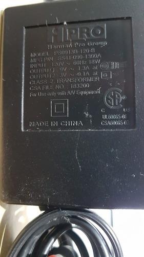 fonte hpro harman 9v 1.3a para pedais e teclados p4