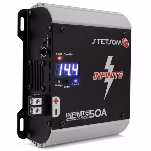 fonte infinite 50a stetsom carregador de bateria