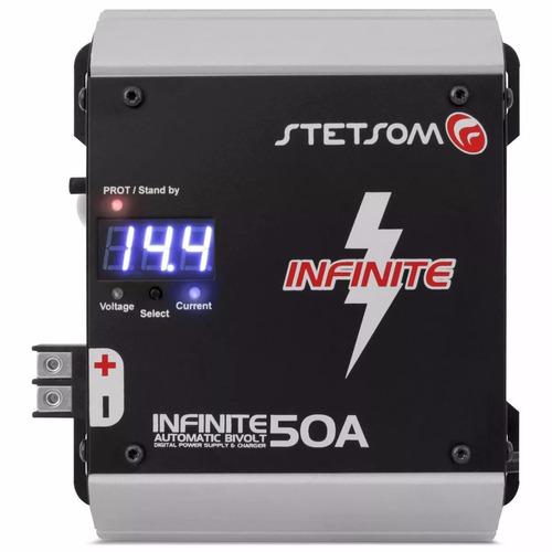 fonte infinite 50a stetsom carregador de bateria com frete