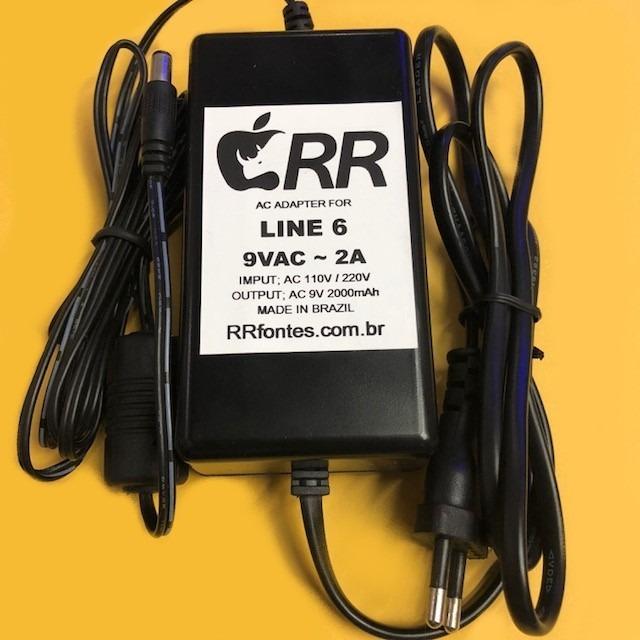 Fonte Line 6 Pod Live Looper Floor Spider M13 M9 Pod Xtl X3l