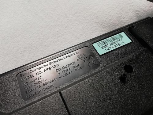 fonte original ps3 slim cech-2512a aps-270 - funcionando
