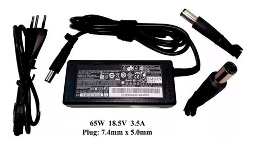 fonte p/ notebook hp 18,5 volt x 3,5 plug grosso  -  co1522
