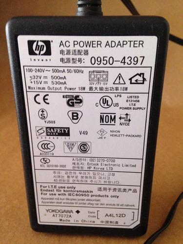 fonte para impressora hp original 18 watts - 500 ma