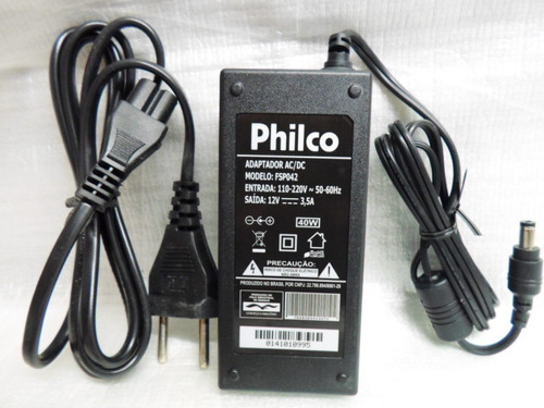 fonte para tv e monitor philco 12v 3,5a ph20u21d ph24d21d