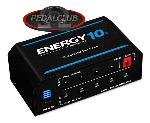 fonte pedal 10 pedais landscape e10 energy 1500ma