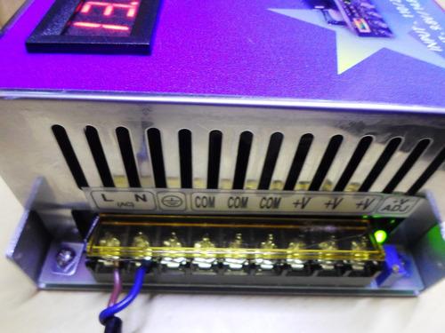 fonte som automotivo carregador bateria 12v 50a c voltimetro