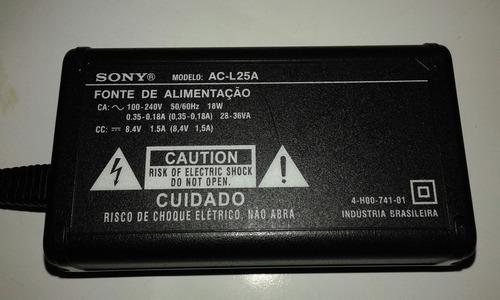 fonte sony filmadora modelo ac-l25a  100-240v 50/60/hz 18w