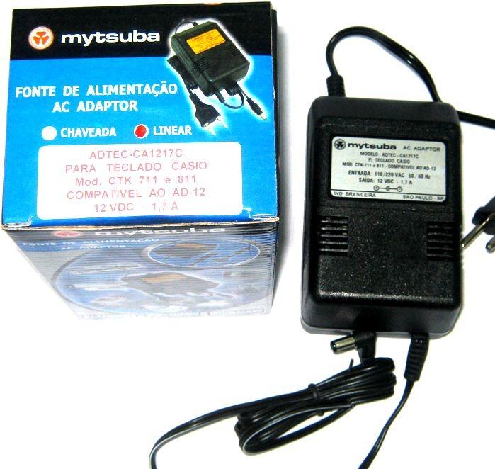 dd483d174e7 Fonte Teclado Casio Ctk 711 À 811 Compatível Ad-12 - Dinhos - R  102 ...