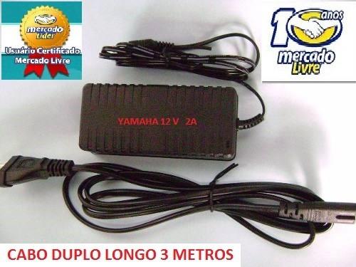 fonte teclado yamaha psr530 psr540 psr550 cabo longo 3 mts
