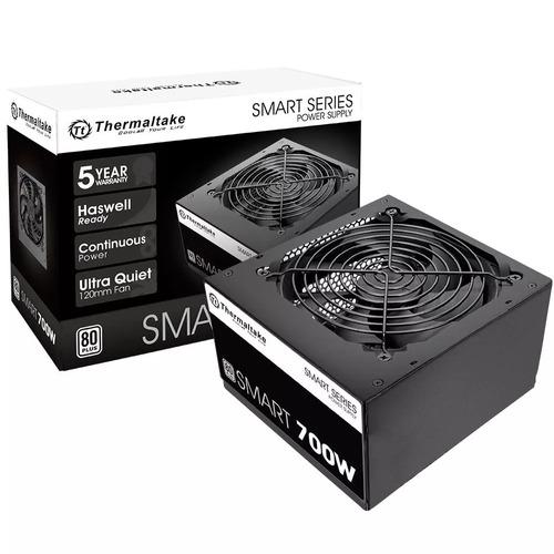 fonte thermaltake smart series 700w  80 plus pfc ativo