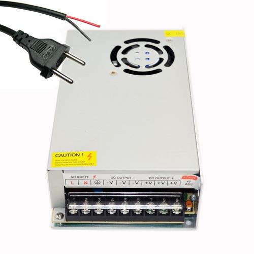 fonte transformador 110/220v para 12v 30a 360w + cabo