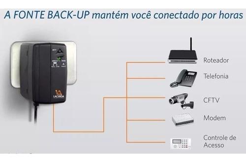 fonte ups 30 12v bateria lion interna para cftv modem voip