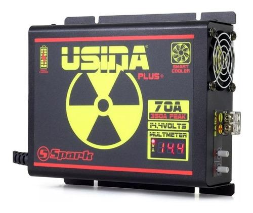 fonte usina 70a bivolt voltímetro + 3 metro fio bateria som