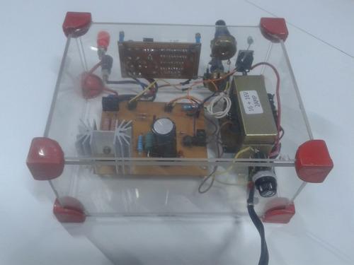 fonte variável 5,5v à 42,6v - proteção contra curto-circuito