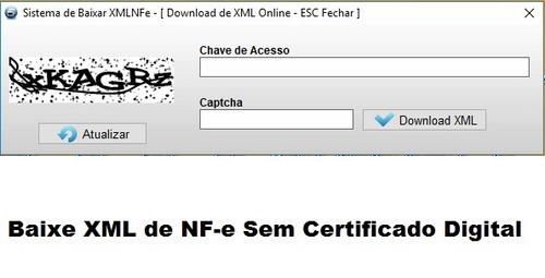 fontes baixar xml de nf-e sem certificado digital - delphi