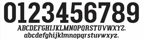 fontes e números oficiais puma para camisas de futebol