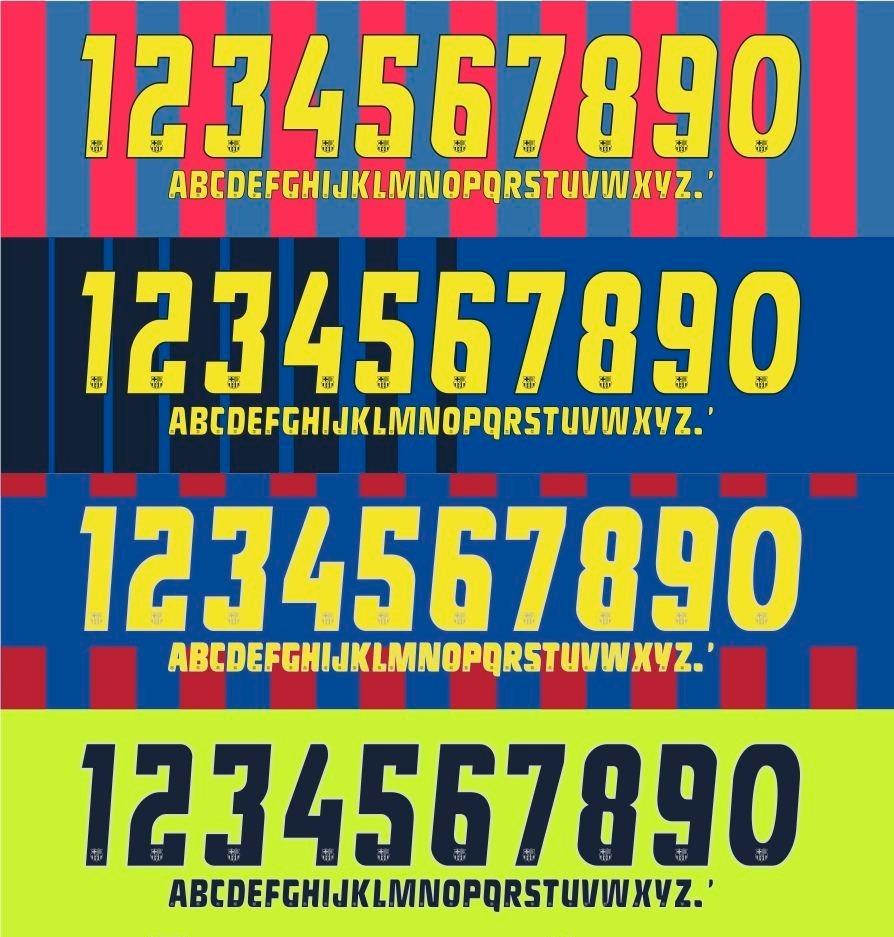 Fontes Impressa Nome E Número Camisa Barcelona Todos Anos ! - R  20 ... 0c917e504e294