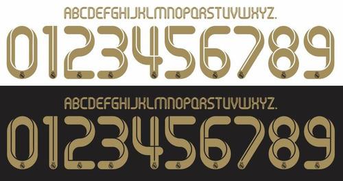 fontes números e nomes oficiais adidas real madrid 2011-12
