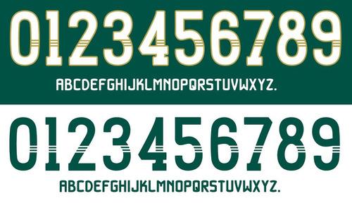 fontes números nomes oficiais adidas palmeiras / fluminense