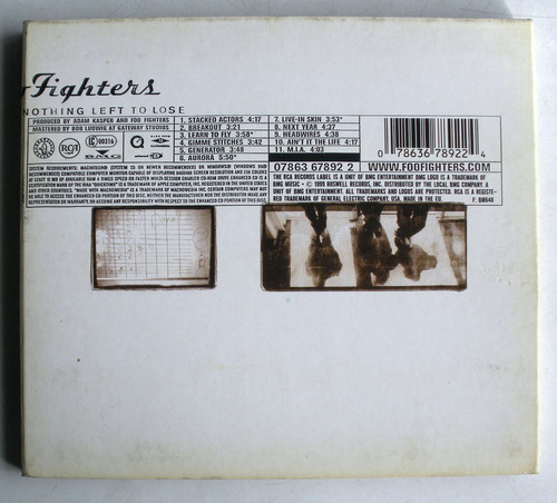 foo fighters- there is nothing left to lose- cd usa-digipack