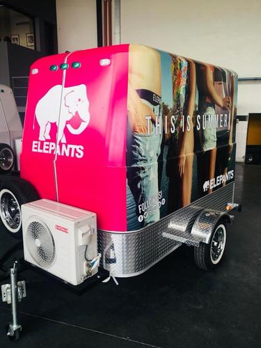 food trailer mactrail con kit gastronómico básico