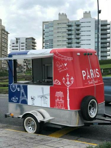 food trailer tipo gastronómico kiosco heladería varios usos