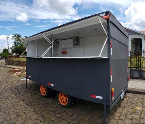 food truck 4 eixos reforçado, com freio modelo 2016