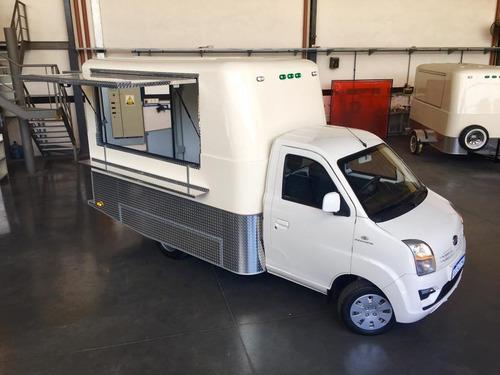 food truck (camion + modulo gastronomico) listo p trabajar