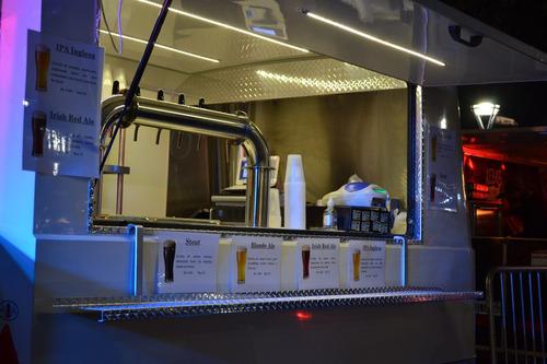 food truck chopera de cerveza tirada, parrilla hamburguesas
