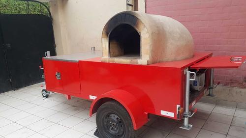 food truck con horno a leña refractario