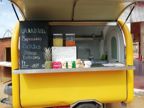 food truck impecable. trae lava platos, mesones acero inoxid
