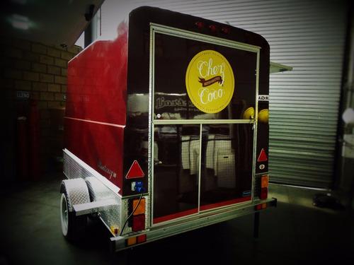 food truck para comida rápida con freno completo