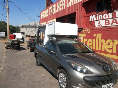 food truck para strada e saveiro lado de fora