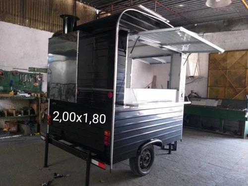 food truck trailer c/ churrasqueira novo pronta entrega 2019