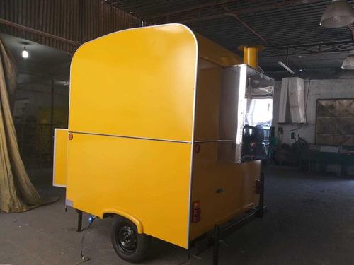 food truck trailer c/ churrasqueira, p/ espetinho churrasco