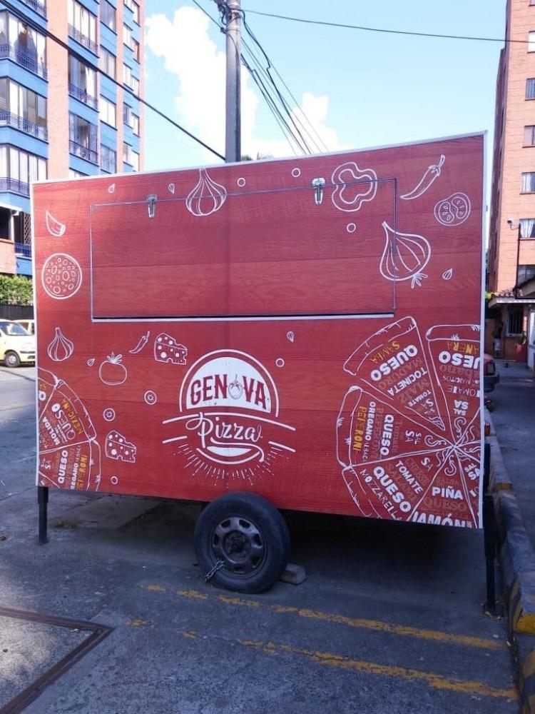 (food truck ) trailer de comidas rápidas
