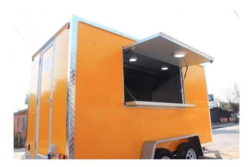foodtruck color amarillo de 4x2m equipado!