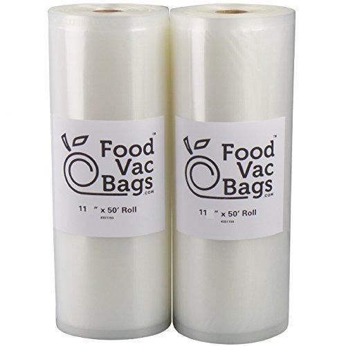 foodvacbags 2-pack 11x50 rolls sellador al vacío bolsas de