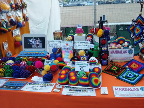 footbag fuchiball  hacky sack * pelota a crochet