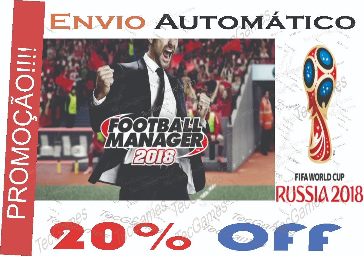 Football Manager 2018 Steam Original Off-line+fm Touch - R  25 011142dd85206