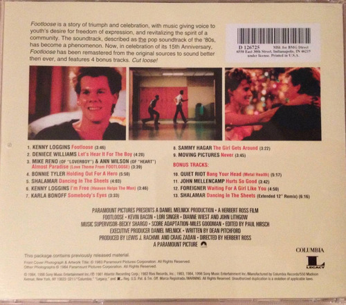footloose - soundtrack 15th aniversario bonus track