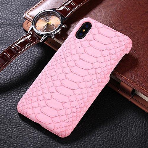 baratas linda precio de descuento For Cellphone Fundas, For iPhone X Snake Skin Texture Paste