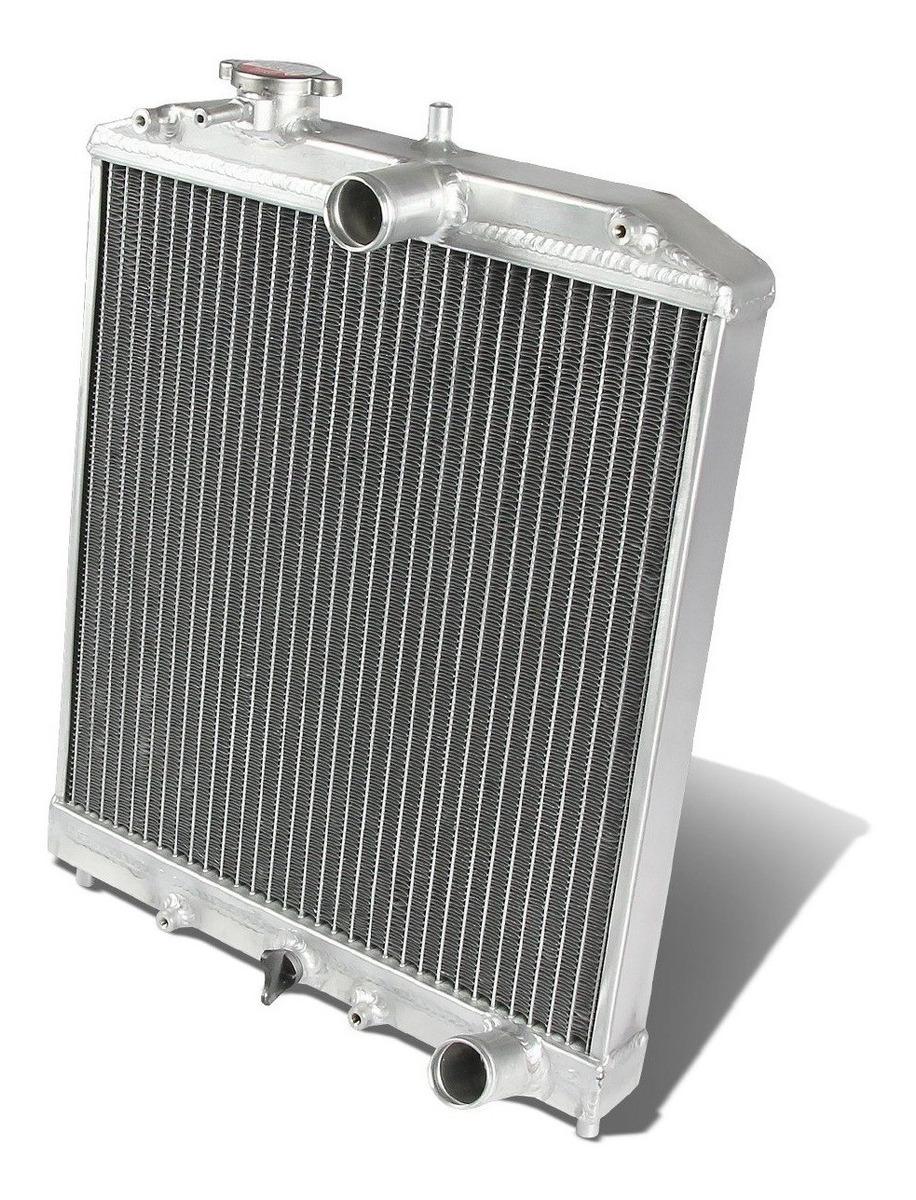 Dual Core High Capacity Race Aluminum Radiator Kit for Honda 92-00 Civic MT