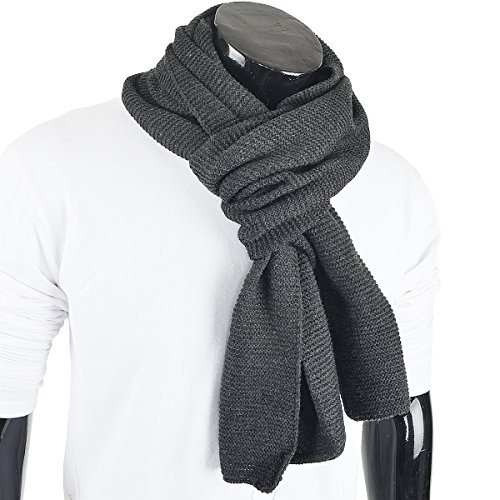 forbusite hombres mujeres stripe pure color bufanda tejida e