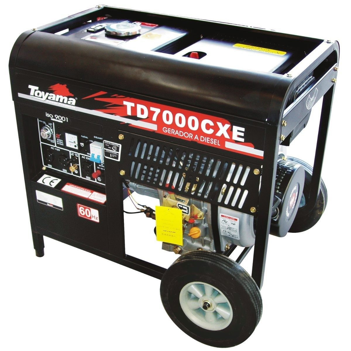 e4a92fae112 Força Grupo Gerador Energia Diesel Toyama Td7000cxe 6