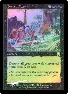 forced march x 1 foil mtg