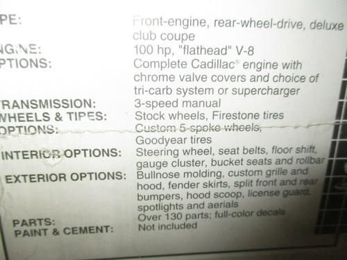 ford 1949 coupe kit para armar y pintar escala 1/25